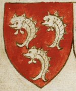 Arms of John de Blenerhayset from Thomas Jenyn's Book of Arms, copyright © The British Library Board 2010-2016 - click on image to enlarge