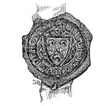 Seal of Alan de Blenerhayset, Carlisle, Cumberland 1390 - click on image to enlarge