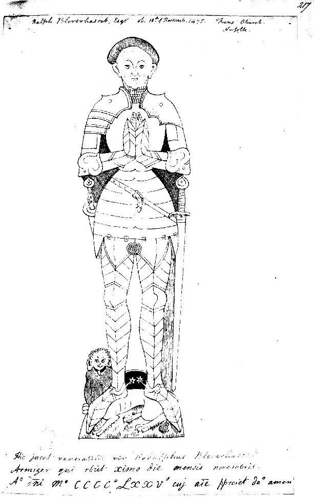 Drawing of Ralph Blenerhasset Esq. by Rev Thomas Kerrich
