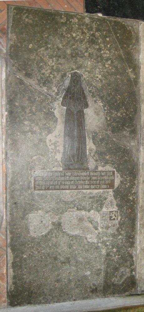Jane Blennerhassett, nee Tyndall, d.1521; Frenze, Norfolk