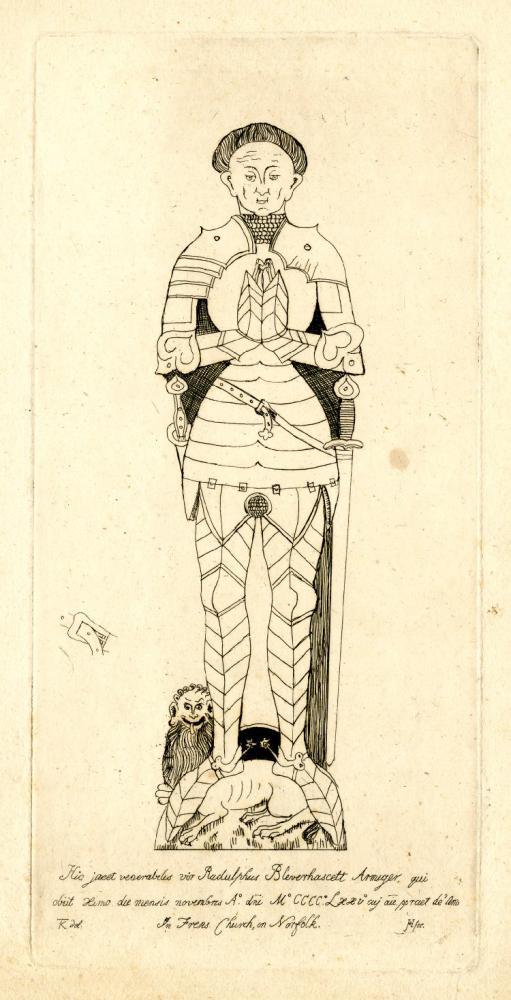 Etching/Print of Ralph Blenerhasset Esq. by Jane C. Hayles